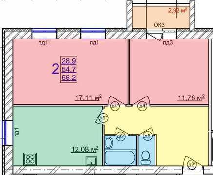 2х-комнатная квартира на Московском пр. - Фото 2