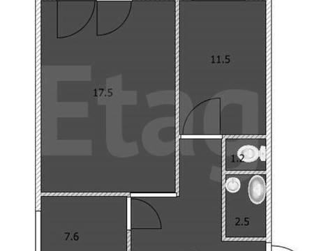 Продажа двухкомнатной квартиры на Стадионной улице, 25 в Стерлитамаке, Купить квартиру в Стерлитамаке по недорогой цене, ID объекта - 320178004 - Фото 1