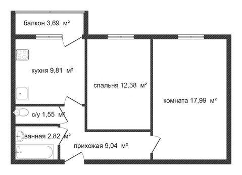 Продам 2-комн. 53.59 кв.м. Пенза, 65-летия Победы - Фото 2