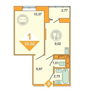 Продажа квартиры, Тюмень, Дмитрия Менделеева, Купить квартиру в Тюмени по недорогой цене, ID объекта - 320237475 - Фото 1
