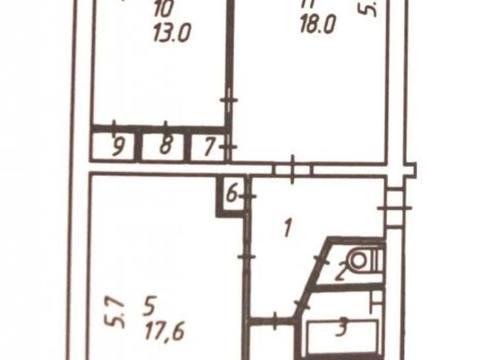 3 100 000 Руб., Продажа трехкомнатной квартиры на Тепличной улице, 1 в Калуге, Купить квартиру в Калуге по недорогой цене, ID объекта - 319812606 - Фото 1