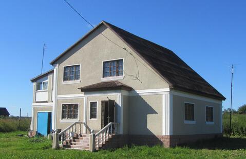Кирпичный дом с гаражом, Прописка, д. Жабрево - Фото 1