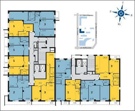 Продажа трехкомнатная квартира 92.47м2 в ЖК Дипломат - Фото 2