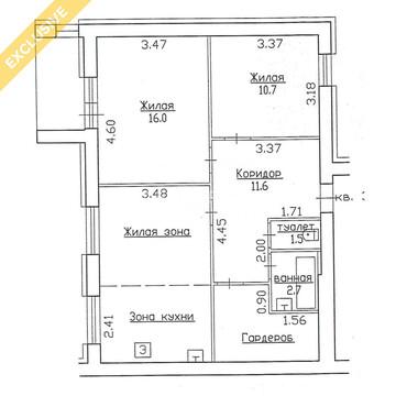 Продажа 3-к квартиры на 7/9 этаже, на ул.Суоярвская, д.26 - Фото 2