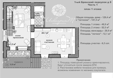 Часть дома 141 м2 в гор. Наро-Фоминск - Фото 2