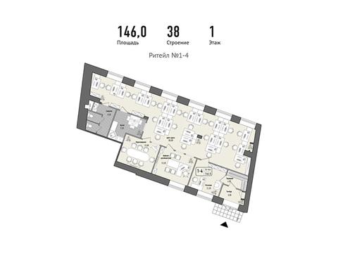 Продается помещение 146 кв. м, м. Алексеевская - Фото 1