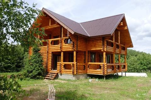 Новый коттедж 230 кв.м из бревна в охраняемом поселке в 85 км от МКАД - Фото 2