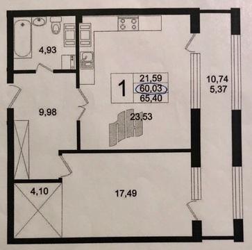 Продается однокомнатная квартира бизнес-кл. с 2мя маш местами в центре - Фото 2