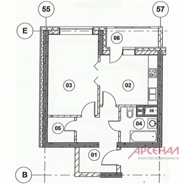 Корпус 4(вгк), кв.156.1-комн.кв - Фото 4