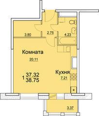 Продается 1-комнатная квартира в г. Пушкино, в новом Жилом комплексе « - Фото 2