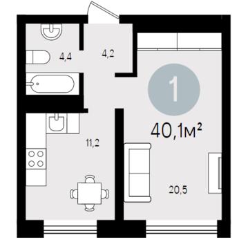 Продажа квартиры, Тюмень, Тихий, Купить квартиру в Тюмени по недорогой цене, ID объекта - 319519345 - Фото 1