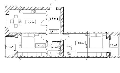 Продам 2-комнатную квартиру, 63м2, ЖК Прованс, фрунзенский р-н - Фото 5