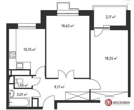 2-комнатная квартира в Чертаново - Фото 1