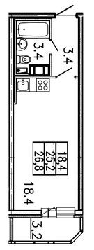 Продам студию. Заводская ул. к.Б, Купить квартиру Янино-1, Всеволожский район по недорогой цене, ID объекта - 318424214 - Фото 1