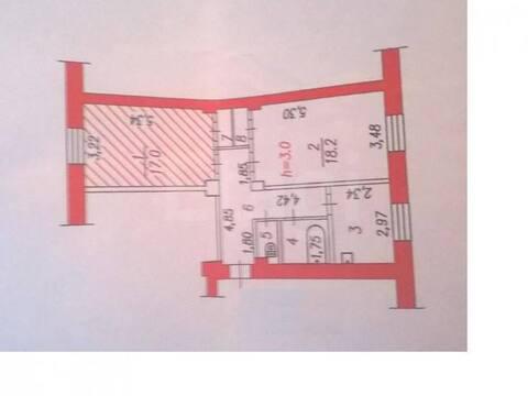 Продажа однокомнатной квартиры на улице Покрышкина, 23 в Новокузнецке, Купить квартиру в Новокузнецке по недорогой цене, ID объекта - 319828357 - Фото 1