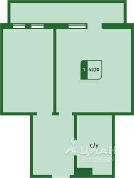 1-к кв. Тюменская область, Тюмень ул. Пермякова, 77 (42.1 м) - Фото 1