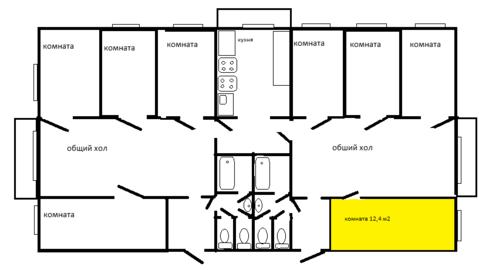 Комната 12,8 кв. м. в Тосно - Фото 2