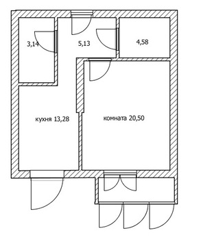1 комнатная, Столичный - Фото 4