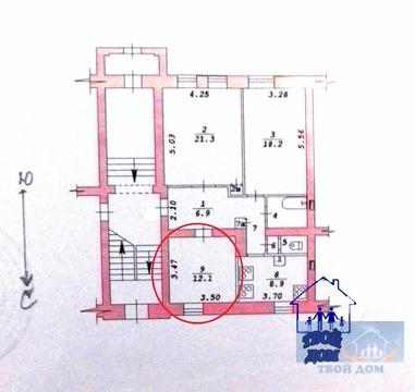 Продам 2 комнаты 30 м2/доля в 3-к. квартире, Новосибирск, Ползунова, 3 - Фото 3