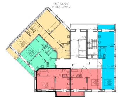 Однокомнатная квартира с индивидуальным отоплением
