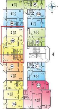 Купить квартиру в Новороссийске, монолитный дом, Южный район. - Фото 3