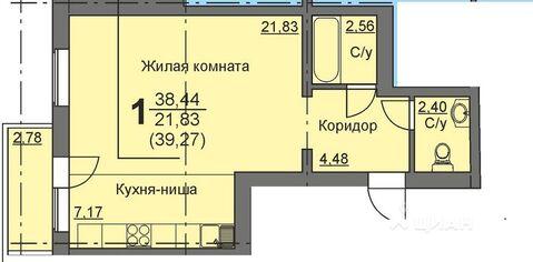 Студия Курганская область, Курган 16-й мкр, 11 (38.9 м) - Фото 1