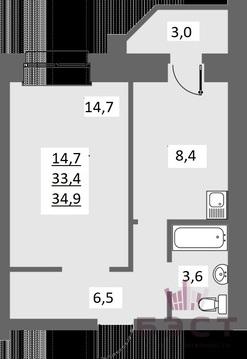 Квартира, ЖК Березки, ул. Академика Королева, д.8 к.В - Фото 1