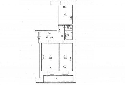 Продажа 2-комнатной квартиры, 53.1 м2, Андрея Упита, д. 11к2, к. . - Фото 4