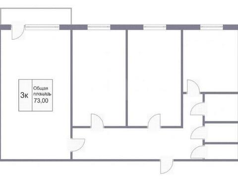 4 350 000 Руб., Продажа трехкомнатной квартиры на проспекте Шахтеров, 91 в Кемерово, Купить квартиру в Кемерово по недорогой цене, ID объекта - 319828869 - Фото 1