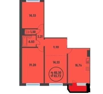 Продам 3-комнатную квартиру в ЖК Плеханово - Фото 2