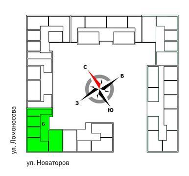 Продажа однокомнатная квартира 36.9м2 в ЖК Квартал Новаторов секция б - Фото 2