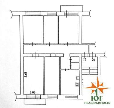 Продам комнату 17 кв.м. с балконом. в 5ком. квартире в г.Домодедово - Фото 5