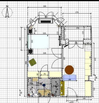 1-комн. кв. 38 м2, этаж 2/6 - Фото 2
