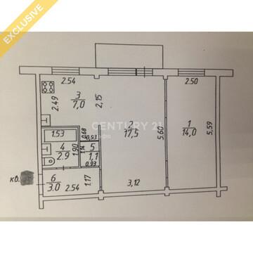 Продажа 2-к квартиры на 4/5 этаже, пр-т Октябрьский 10а - Фото 3