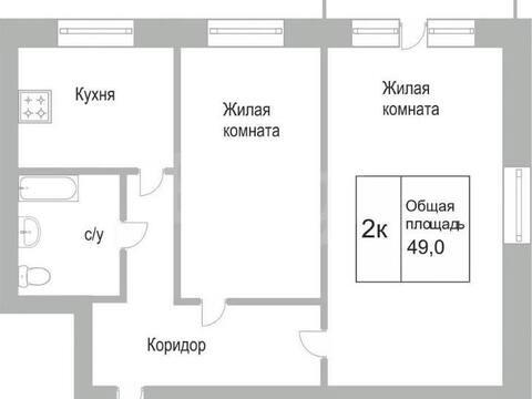 Продажа двухкомнатной квартиры на улице Кутузова, 31 в Новокузнецке, Купить квартиру в Новокузнецке по недорогой цене, ID объекта - 319828685 - Фото 1