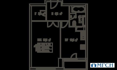 1-комн квартира в ЖК Дыхание 52,7м2 - Фото 1