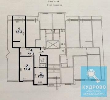 2-к квартира, 63 м2, Кудрово, Венская улица, 3 - Фото 2