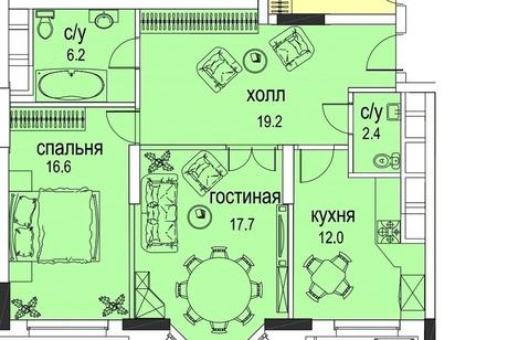 Продам 2-к квартиру, Москва г, Авиационная улица 77к2 - Фото 1