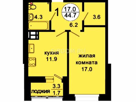 Продам 1-комн. квартиру 43,8 кв.м. Октябрьская д.8 - Фото 1