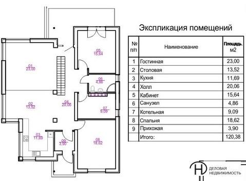 """Продается 2-х этажный дом в д. Каменное. """" Алексеевская слобода"""" - Фото 2"""