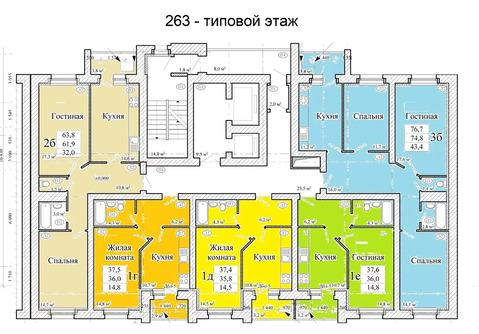 Объявление №50414980: Квартира 3 комн. Тамбов, ул. Астраханская, д. 263,