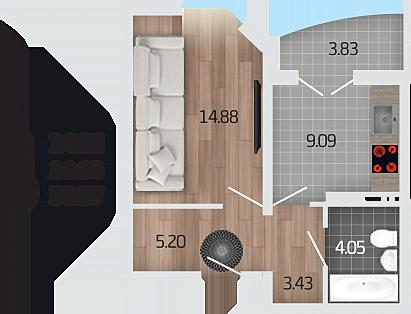 Продажа квартиры, Отрадное, Новоусманский район, Ул. Рубиновая - Фото 1