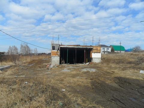 Продам 11,5 соток с фундаментом-гаражом в Первомайском
