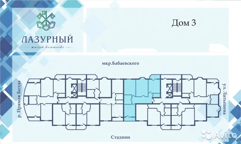3-к квартира, 113.8 м, 2/16 эт. - Фото 2