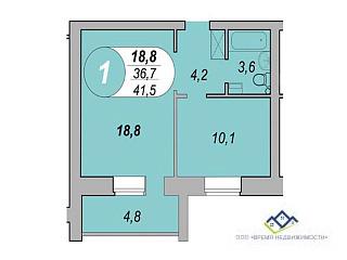 Продам однокомнатную квартиру Шаумяна 12/2, 41 кв.м. Цена 1950т.р - Фото 2