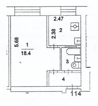 Продам 1-к квартиру, Москва г, улица 1812 года 10к2 - Фото 2