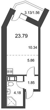 Продам студию. Дорога Жизни ш. к.3, Купить квартиру в Всеволожске по недорогой цене, ID объекта - 318418564 - Фото 1