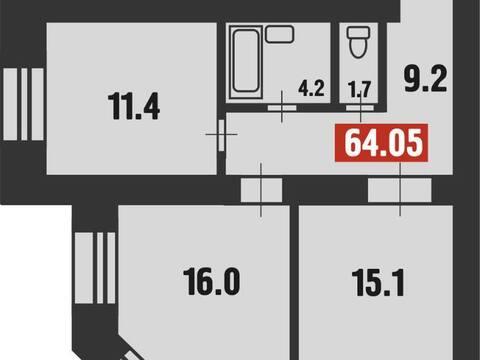 Продажа двухкомнатной квартиры в новостройке на Новой улице, 24 в ., Купить квартиру в Благовещенске по недорогой цене, ID объекта - 320294242 - Фото 1
