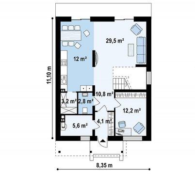 Дом 156 кв.м на участке 12,6 соток - Фото 3