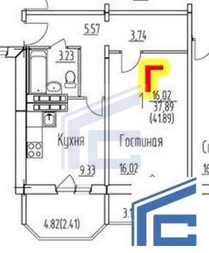 Продажа 1-а ком. кв.г. Домодедово, ул. Гагарина д.63 - Фото 5